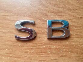 SAAB 93 9-3 95 9-5 'S' & 'B' BADGE LETTERS BOOT TRUNK EMBLEM