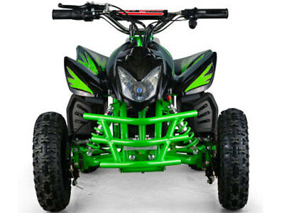 Kids Four Wheeler Electric Battery 24V Boys Girls Green Mini ATV Dirt Bike New