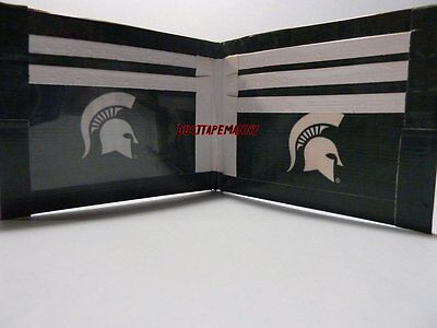 Duct Tape Wallet WITH THE MICHIGAN STATE LOGO ON IT Handmade