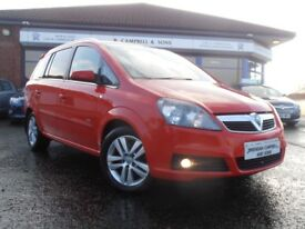 VAUXHALL ZAFIRA DESIGN 1.9 CDTI 120BHP 6 Speed 7 Seater (red) 2007