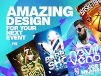 AMAZING AND CHEAP DESIGN FOR YOUR NEXT EVENT | GRAPHIC DESIGN SERVICES | LOGO FLYER POSTER WEBSITE