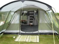 Montana 6 family tent inc carpet and front extension