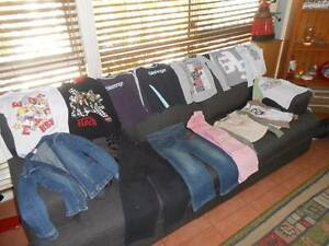 Girls size 7 Winter Bundle of Clothes Long sleeved shirts & jeans Greenbank Logan Area Preview