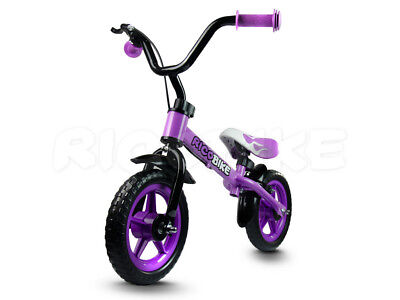 Laufrad Kinder Metallrahmen V-BRAKE EVA Reifen Ricobike Handbremse RC-104 violet