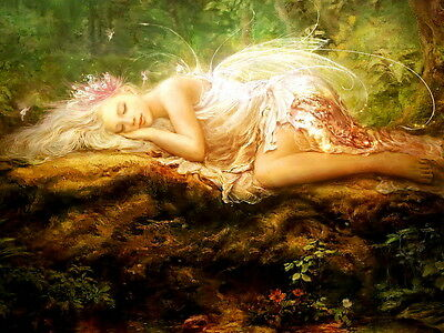 Fairy For Kids (Gifts For Kids Wall Decor Fairy Butterfly oil painting picture Printed on)
