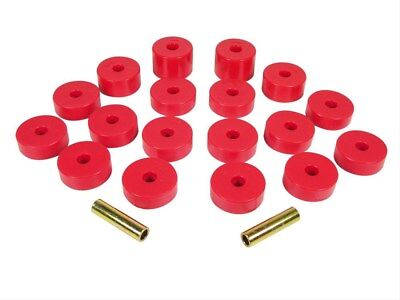 Prothane 1 109 1974 1975 Jeep Cj5 Cj7 Body Mount Bushing Kit Red 18 Piece Kit