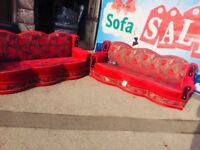 3+3 seater sofa beds settees in good condition fast delivery