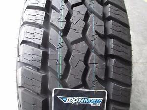 4 pneus d'été neufs, Ironman, All Country M/T, LT275/65/18.