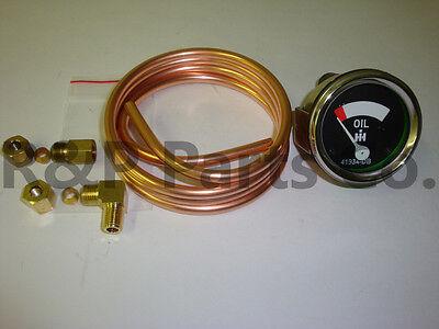 Oil Pressure Gauge Oil Line Combo Kit For Farmall H Hv M Mv W4 Supers 41934db