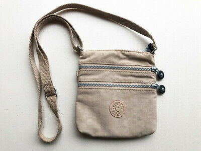 Kipling Women's Tan/Beige Crossbody Alvar Shoulder Bag - Excellent Condition!
