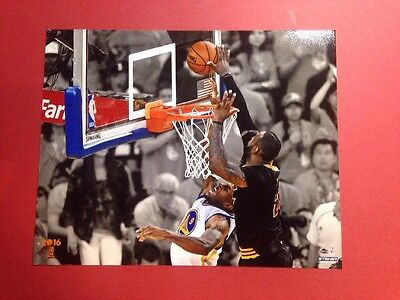 Lebron James The Block  Game 7 Cleveland Cavs 2016 Nba Championship 8X10 Photo