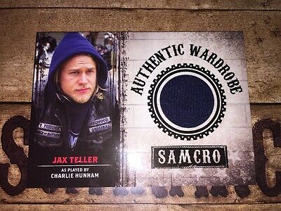 Sons Of Anarchy Authentic Wardrobe Card Of Jax Teller