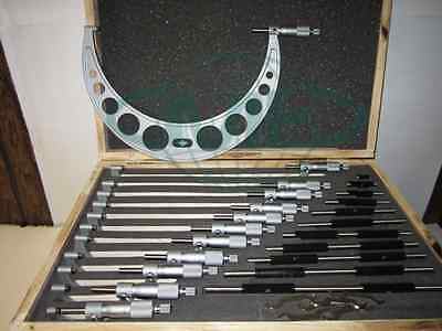 0-12 Precision Outside Micrometer Set 0.0001 Carbide Standards 12pcsset--new