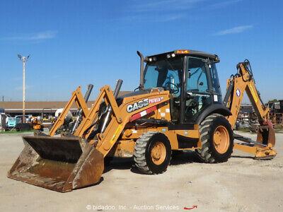 2012 Case 580n Backhoe 4wd Wheel Loader Tractor 4x4 Diesel Cab Aux Hyd Bidadoo