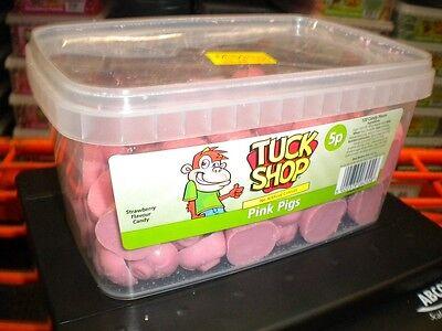 Tuck Geschäft 120 Pink Pigs 900 G Behälter UK Süßigkeiten Party Halloween ()
