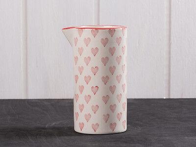 IB Laursen Kanne Herz creme weiß rote Herzen Keramik Krug Herz rot ()