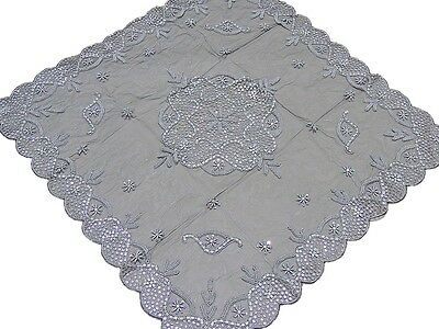 Elegant Cocktail Banquet Tablecloth Black Net Indian Designer Home Fashion 40in