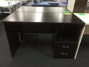 Brand New Quality Computer Desk Study Desk White Dark Brown