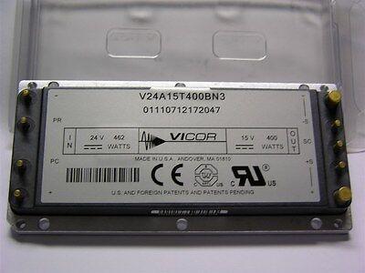 1 Vicor V24a15t400bn3 24V 462W In  15V 400W Out  Maxi Dc Dc Converter Module