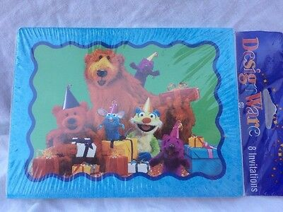 (Bear In The Big Blue House  Party Invitations  New NIP 8 Piece Tutter Ojo)