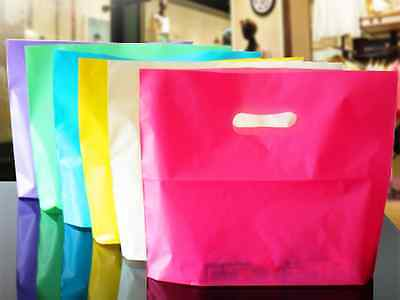 Colorful Plastic Shopping Bags With Handle Boutique Clothes Gift Packaging Pouch - Plastic Bags With Handles