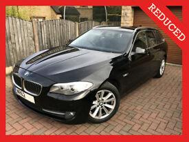 2012 62 BMW 5 Series 520d SE Touring Estate Black PRO Sat Nav Auto Sport 520 525d 530d Diesel FBMWSH