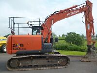 Hitachi ZX130LCN-5, 2014 with 4700hours on 700mm pads, new chains, sprockets