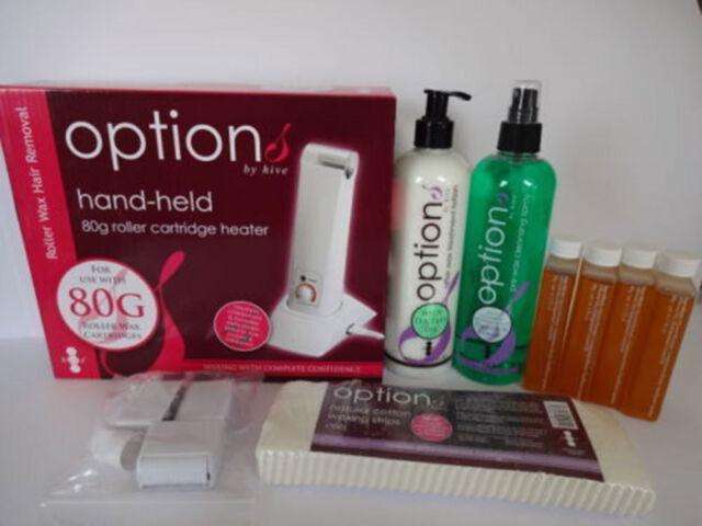 Hive of Beauty Depilatory Hand Held Roller Waxing Kit Wax Heater Set 80g HOB6015