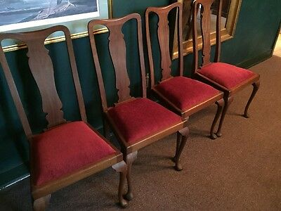 Queen Anne Dining Room Chairs Antique Queen Anne Chairs