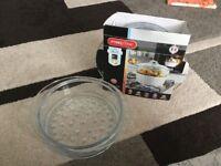 NEW Pyroflam Borosilicate Clear Glass Steamer Basket, 20cm