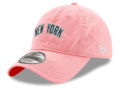 d501b963a73 New Era New York Yankees Women MLB Pink Wordmark Adjustable Baseball Cap Hat