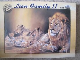 Jigsaw Puzzle - 1, 500 Pieces - Lion Family