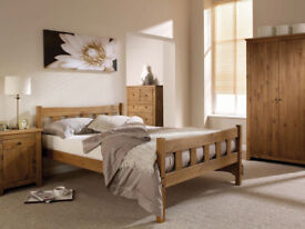 Double, Solid Brazilian Pine, chunky, wooden, bed, frame, Pine bed, Mattress, king size,