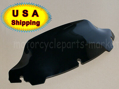 "USA 7"" Dark Smoke Wave Windshield Windscreen For Harley Tri Glide FLHX 2014-2016"