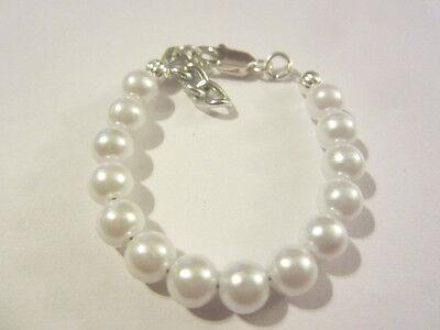Newborn baby/toddler white pearl bracelet