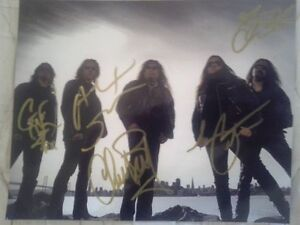 TESTAMENT AUTOGRAPHED FULL BAND 8X10 PHOTO