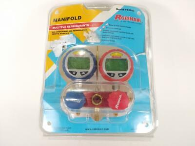 Robinair 43180 Aluminum 2-way Manifold Digital Gauge Set Used