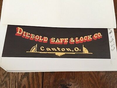 Diebold Safe & Lock Co. Emblem, Sticker, Decal Reproduction