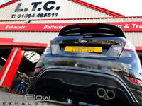 Ford Fiesta ST with a Proflow Stainless Steel Mid and Duel Rear Stainless Steel Exhaust