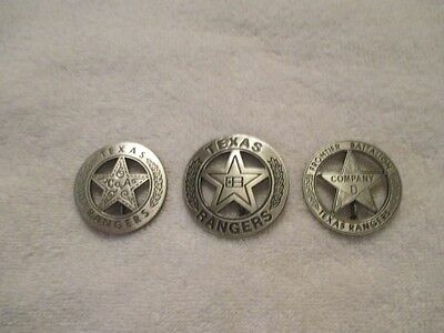 Texas Ranger Badge (The Texas Rangers 3 Badge Collecton-- Each Badge Comes in Its Own)