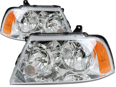 For 2003 Lincoln Navigator Headlights Headlamps Pair Set Replacement ()