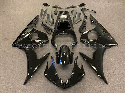 For Yamaha YZF R6 2005 YZF-R6 YZFR6 Glossy Black ABS Injection Fairing Kit Body