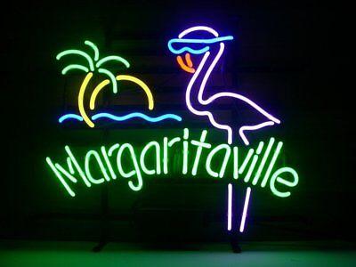 Margaritaville Pink Flamingo Beer Bar Pub Sign Lamp Handmade Neon Light