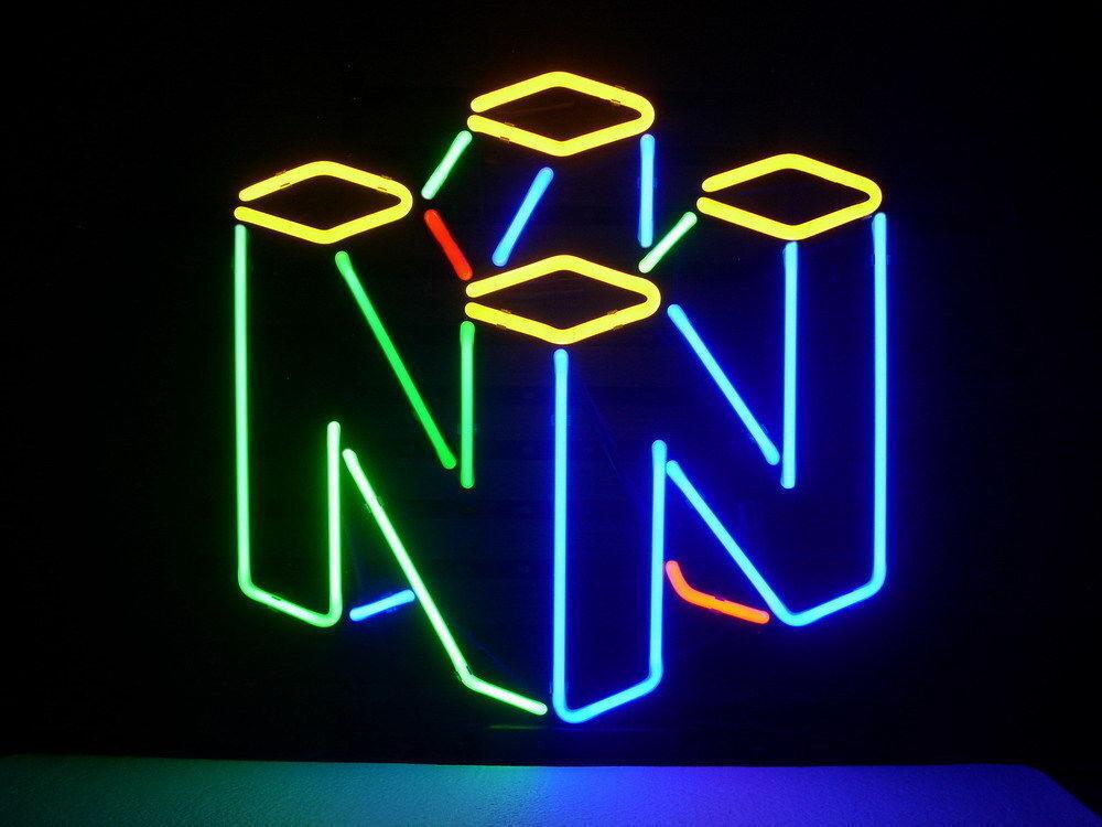 """New NINTENDO 64 Game Room Beer Light Neon Sign 17""""x14"""""""
