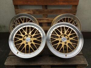 19 Zoll LM Felgen für VW Golf 5 6 7 GTI R RS AMG GTD GTE R32 Cabrio Gold Passat