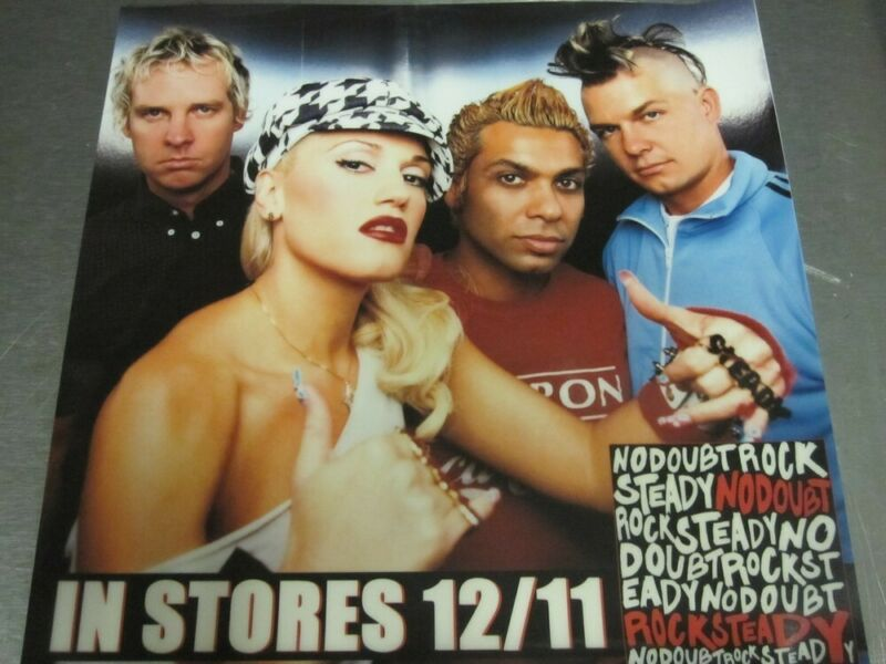 No Doubt 2001 Rock Steady vinyl BIG cling promotional sticker New Old Stock