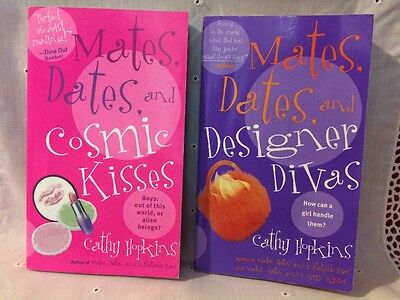 2 Mates And Dates pbks by Cathy Hopkins: Cosmic Kisses & Designer Divas