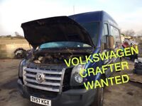 Volkswagen crafter van wanted!!!