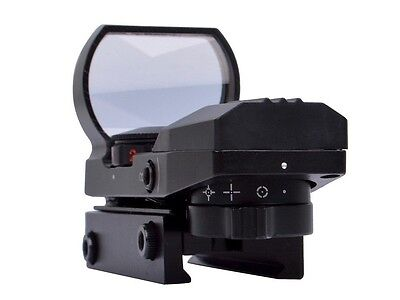 Tactical Holographic Reflex Sight Green And Red Dot With 4 Reticles Color Black