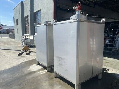 Stainless Steel Mixing Tanks And Pneumatic Agitator 500 Gallons Each